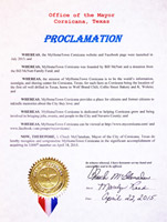 Corsicana My Hometown Proclamation